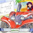 TKの絵封筒(7) ~クラッシックカー