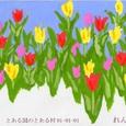 TKの絵封筒(4) ~チューリップ畑