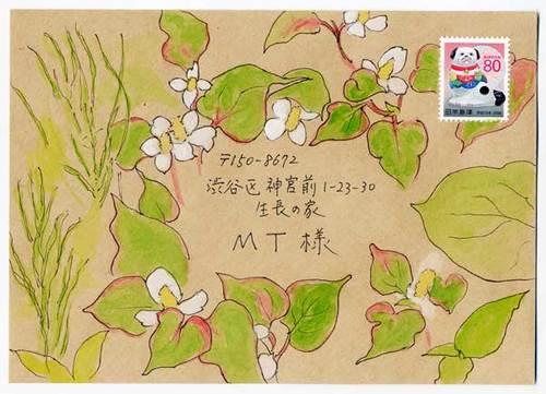 TKの絵封筒(1) ~野の花