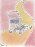 シータさんのイラスト ~幸せを運ぶ台車