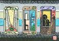 奄美の風さんの版画『あかるい色』
