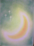 シータさんのパステル画 ~三日月