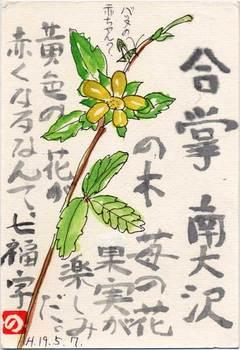 七福字さんの絵てがみ~木苺