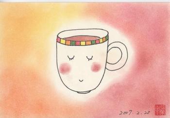 シータさんのパステル画~コーヒーカップ