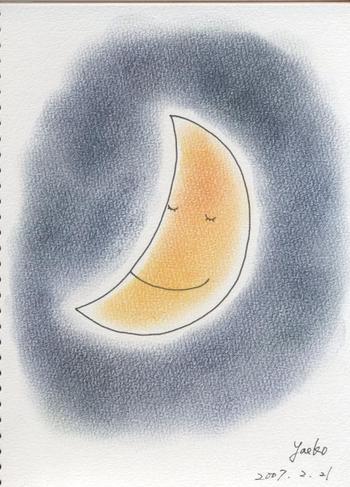 シータさんのパステル画~お月さま