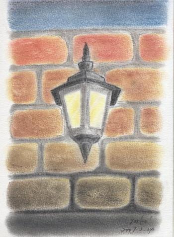 シータさんのパステル画 ~街灯