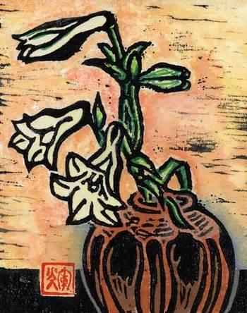 『茶花瓶のゆり』  作者:奄美の風さん