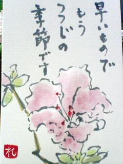 reikoさんの絵てがみ『つつじ』