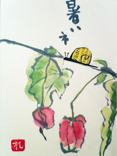 reikoさんの絵てがみ『チロリアンランプ』