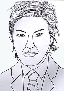 静香さんの似顔絵 ~キムタク