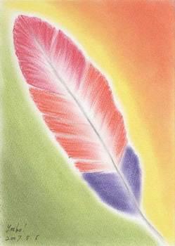 シータさんのパステル画 ~羽根